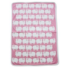 Sheep baby blanket in rose blush | Mengsel
