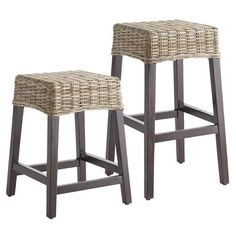 A sleek silhouette, now in a fresh combination of rattan weaving and tapered legs made of mango wood. Because everyone& trying to work more natural ingredients into their diet. Wicker Counter Stools, Counter Height Stools, Kitchen Stools, Bar Counter, Kitchen Island, Rustic Bar Stools, 24 Bar Stools, Patio Chair Cushions, Wicker Chairs
