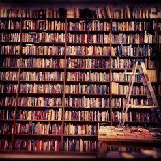 In the bookstore - Powell's Bookstore, Portland Oregon.