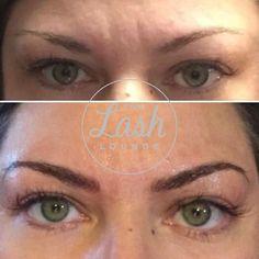 Beautiful brow transformation after microblading at The Lash Lounge Carmel in Indiana. Natural Looking Eyelash Extensions, Lash Lounge, Permanent Makeup, Real Beauty, Indiana, Brows, Eyelashes, Beautiful, Eyebrows