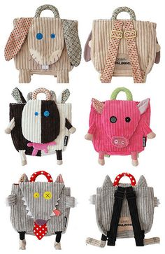 Sewing ideas for men pictures ideas Sewing Crafts, Sewing Projects, Sewing Ideas, Animal Bag, Kids Bags, Kids Backpacks, Baby Sewing, Handmade Bags, Purses And Bags