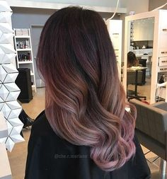 25 Best Hairstyle Ideas For Brown Hair With Highlights: Long hair with pink and orange ombre