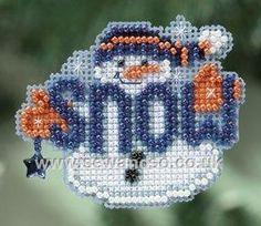 Buy Snow Buddy Fridge Magnet Cross Stitch Kit Online at www.sewandso.co.uk