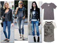 Aposte em looks confortáveis para o dia a dia: uma calça jeans fica supercool com uma t-shirt estampada (Foto: Imax Tree/Divulgação)