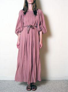 ROSE GAUZE grecian maxi dress, xs - l. $58.00, via Etsy.