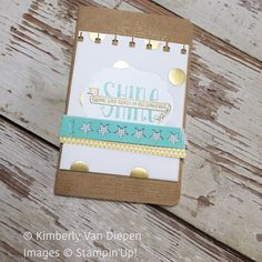 Decorated journal with Banner Blessings stamp set, Stampin Up!