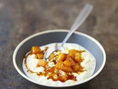 Milchreis mit Mango und Honig | Kalorien: 398 Kcal - Zeit: 45 Min. | http://eatsmarter.de/rezepte/milchreis-mit-mango-und-honig