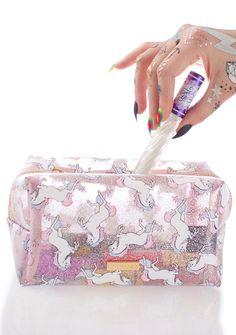 Glitter Unicorn Makeup Bag