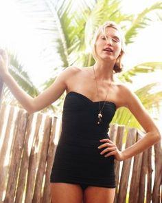Carmen Marc Valvo Bandeau Swim Dress..LOVE