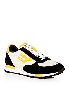 BALLY MEN'S GAVINO RETRO LACE UP SNEAKERS. #bally #shoes #