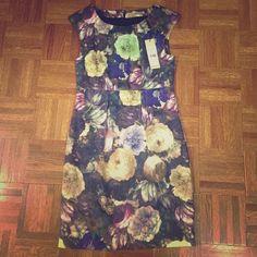 Flash Sale New Nwt Floral Print Cocktail Dress