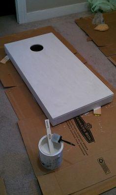 DIY Paint Your Cornhole Boards