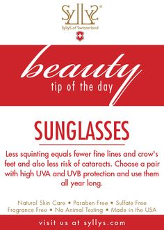 Less squinting = Less wrinkles around your eye area