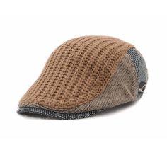 Hot Jamont Casual Men Cotton Patchwork Beret Cap Women Men Autumn Winter Plaid Duckbill Flat Hat Embroidery Causal England Sty Water Sports