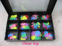 Peek-a-Boo! Treasure Box - organize kid's crafts. $15.00  #craft #organization #clever #container #box