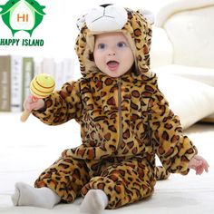 Cotton Baby Boy Girl Clothes Long Sleeve Cute Animal Shape 2016 Autumn Baby Romper Newborn Next Jumpsuits & Rompers Baby Product #Affiliate