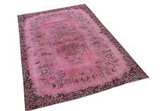 271cm x 170cm €590,- Roze vintage tapijt   (nr1199b)