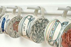 Molly Hatch - teacups on mugs - fabulous! I like the bold line of the illustration.