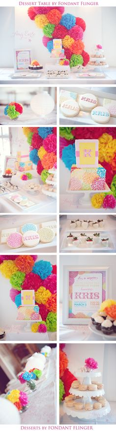 Love this party theme! Beautiful bright colors! And the cookies are so cute.