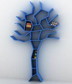 Blauen Baum Designer Bücherregale Interieur Akzente