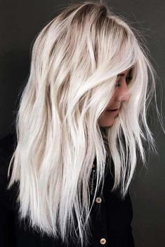 Lovely Highlights Of Blonde Balayage Hair Colors in 2019 Blonde hair models – Hair Models-Hair Styles Platinum Blonde Hair Color, White Blonde Hair, Balayage Hair Blonde, Hair Color For Black Hair, Blonde Hair Colors, Trendy Hair Colors, Ombré Hair, Trendy Hairstyles, Hairstyles Haircuts