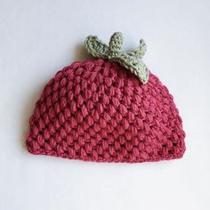 knot_katy #crochet raspberry hat