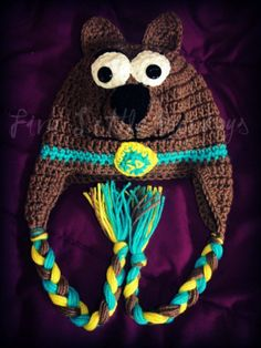 scooby+doo+crochet+beanie+pattern+free | Scooby Doo Hat - Hats - Brown: Love It by keikei1973