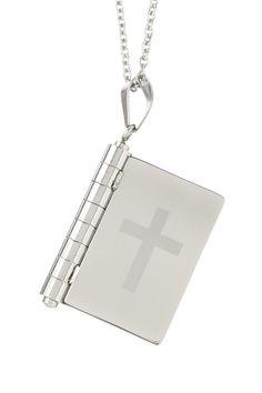 Religious Book Pendant Necklace