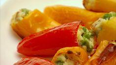 STUFFED BABY PEPPERS courtesy Giada De Laurentiis http://www.giadadelaurentiis.com/recipes/147/stuffed-baby-peppers  ⇨ Follow City Girl at link https://www.pinterest.com/citygirlpideas/ for great pins and recipes!  ☕