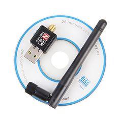 Mini USB Wifi Adapter 150Mbps 2dB WiFi Antenna USB Wifi Receiver Wireless Network Card 802.11b/n/g High Speed Adaptador Wifi