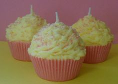 Cupcake Candle Pink Lemonade Scented Soy Wax by Pookaberrys, $7.00