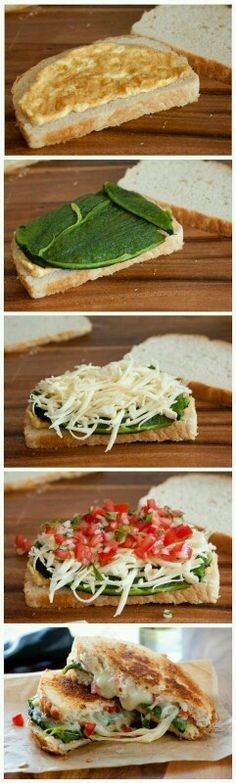 Chile Relleno Grilled Cheese Sandwich/try pasilla chile vs. poblano for no spicy version Mexican Food Recipes, Vegetarian Recipes, Cooking Recipes, Healthy Recipes, I Love Food, Good Food, Yummy Food, Diy Food, Sliders