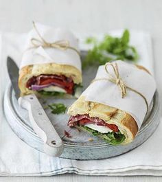 fresh baguettes with herbed goat cheese