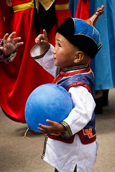 """""""blue balloon matches my hat"""" #Mongolia by bsmethers, via Flickr"""