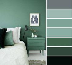 Bedroom Color Photos Grey And Green Bedroom Color Ideas Home Color Ideas Grey And Green Color Bedroom Paint Color Designs Grey Green Bedrooms, Green Bedroom Colors, Green Wall Color, Bedroom Wall Colors, Green Rooms, Gray Bedroom, Trendy Bedroom, Bedroom Ideas, Bedroom Boys