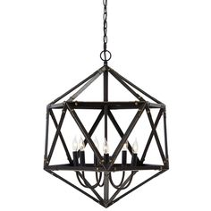 Update your lighting décor with the stunning Signature Design by Ashley Fadri Pendant Light. Featuring a bronze metal icosahedral shade, this pendant light brings antique appeal with a modern twist. Requires six incandescent bulbs (not included). Pendant Lamp, Pendant Lighting, Light Pendant, Brown Table Lamps, Brown Pendants, Hanging Pendants, Signature Design, Bronze Finish, Light Decorations