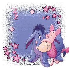 Piglet And Eeyore Eeyore Quotes, Winnie The Pooh Quotes, Winnie The Pooh Friends, Bff Quotes, Friend Quotes, Qoutes, Eeyore Pictures, Cute Pictures, Cute Disney
