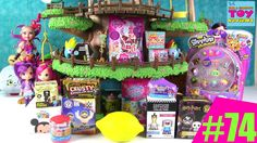 Blind Bag Treehouse #74 Unboxing Disney Shopkins Squinkies Paw Patrol Ma...