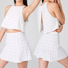 Ugh I wish I was flat chested enough to rock this--tried it on at American Apparel yesterday and it just did not suit me.  I lovee the concept though-they call it their Lolita crop top and mini.