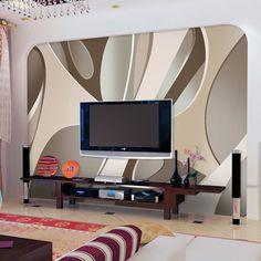 painting designs on a wall 3d Wall Murals, Art Mural, 3d Foto, Bedroom False Ceiling Design, Surface Art, Australia Living, Living Room Bedroom, Abstract Pattern, Wall Design
