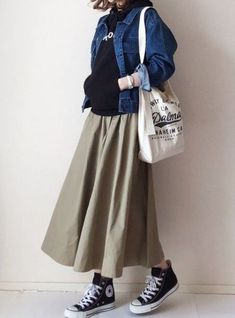 22 Ideas for skirt fashion japan 22 Ideas for skirt fashion japanYou can find Japan fashion and more on our Ideas for skirt fashion japan 22 Ideas for skirt fashion japan Hijab Chic, Casual Hijab Outfit, Casual Outfits, Dress Casual, Ootd Hijab, Casual Boots, Women's Casual, Grunge Outfits, Muslim Fashion