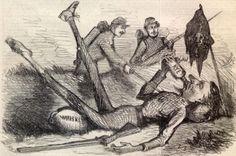 1862 Harpers Cartoon Last Ditch at Last Jefferson Davis Drunk in A Ditch   eBay