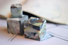 MULL desktop cubes developed from a process that turns old plastic bags into new…
