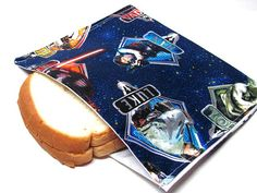Reusable Sandwich Bag Star Wars Eco Friendly by FigTreeBoutique, $7.00