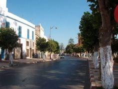 Larache avenida Mohamed V Gardens, Morocco, Cities, Spanish