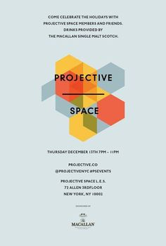 Projective space layout