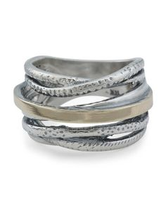 Made In Israel Gold And Sterling Silver Wire Ring Sterling Silver Bracelets, Sterling Silver Jewelry, Silver Rings, Wire Rings, 14 Karat Gold, Tj Maxx, Rings For Men, Fine Jewelry, Stylish