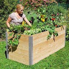 Lärchenholz-Hochbeet Größe 2 200 x 91 cm - Lärchenholz-Hochbeete Hochbeete und Hochteiche - Beckmann KG - Ihr Spezialist für Gewächshaus und Gartenartikel