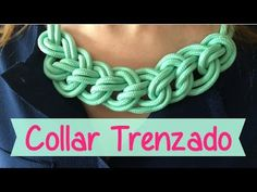 How to Make the Double Celtic Knot (Paracord) Medallion by TIAT Collar Macrame, Macrame Colar, Crochet Collar, Textile Jewelry, Macrame Jewelry, Fabric Jewelry, Braided Necklace, Knot Necklace, Crochet Necklace