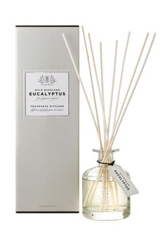 FRAGRANCE DIFFUSER Kangaroo Island Eucalyptus 200 mL Double distilled in one of Australia's oldest Eucalypt distilleries, the Eucalyptus oil has been infused with fragrance to produce a sensual range of modern Australian made products. Kangaroo Island, Eucalyptus Oil, The Fresh, Fragrance, Diffusers, Myrtle, Gifts, Diy, Bricolage